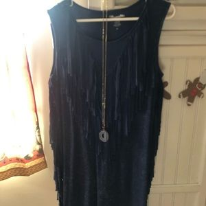 Acid washed blue color bohemian form fitting mini